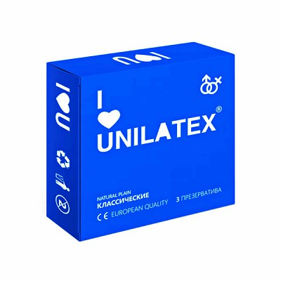 Презервативы Unilatex Natural Plain 3s